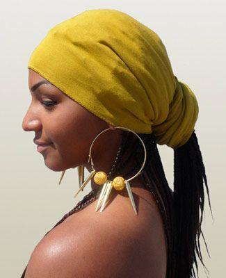 Mustard Head Wrap on 1TL  a38a5701285