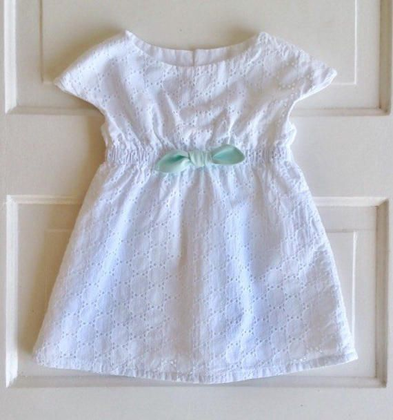 Baby girl dress-summer dress size 6-12 month dress white