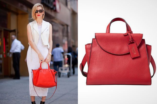 Rock this red bag on the job.