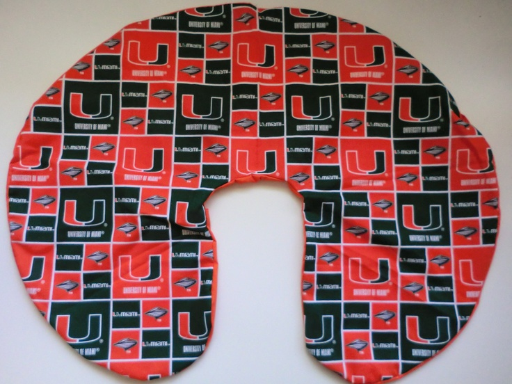 University of Miami Boppy Pillow Cover by TooterBugDesignss, $23.00  Want!!