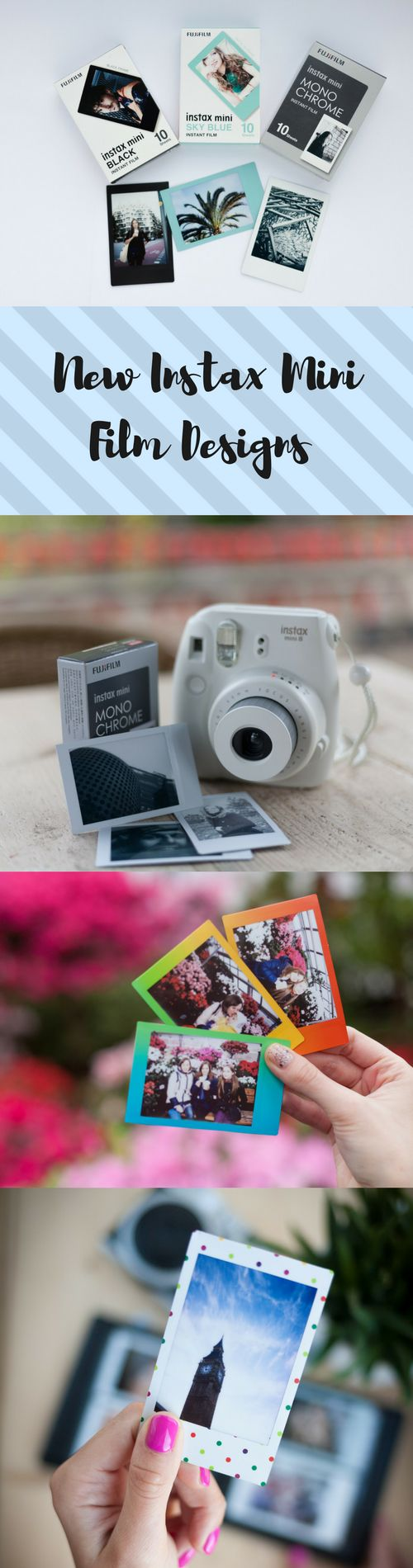 NEW INSTAX MINI FILM DESIGNS! Check out cool Instax Mini film frames! Try out something new for your camera. #Polaroid #Instax #InstaxMini #InstaxFilm #InstantFilm
