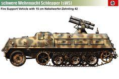schwere Wehrmacht Schlepper (sWS) w/150 mm Panzerwerfer 42