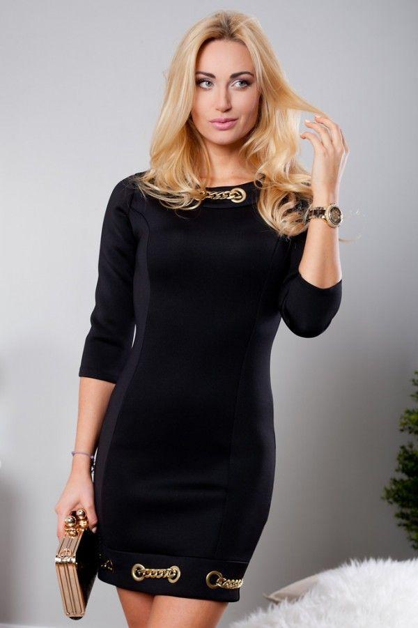 Sukienka z pianki czarna