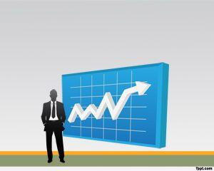 Análisis de negocio como fondo de PowerPoint