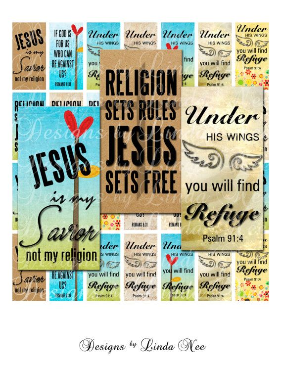 Instant Download - CHRISTian JESUS Reigns (.875 x 1.875 inch slide) Images Digital Collage Sheet  printable stickers