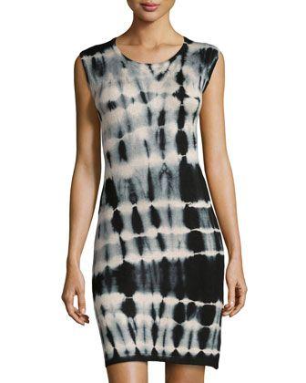 Tie-Dye Jersey Sleeveless Dress, Black by Neiman Marcus at Neiman Marcus Last Call.