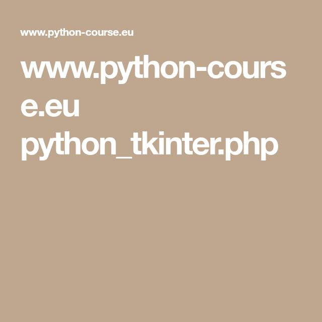 www.python-course.eu python_tkinter.php