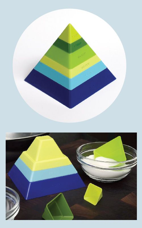 """""""pyramid scheme"""" measuring cups by Gama-Go"""