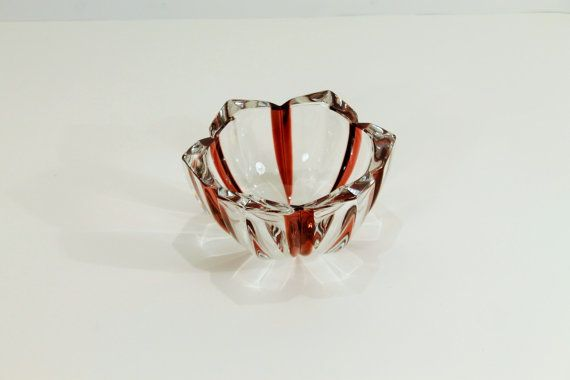 SALE:  50% OFF    Crystal Candy Bowl Brown and by ClockworkRummage