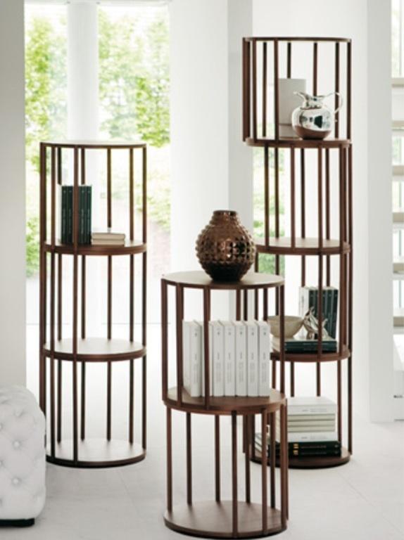Walnut cell bookcase by Porada