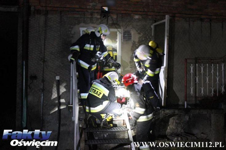 Ogień w domu w Polance Wielkiej – FILM, FOTO #PolankaWielka #Oświęcim #OSP #JRG #strażacy #pożar #ogień