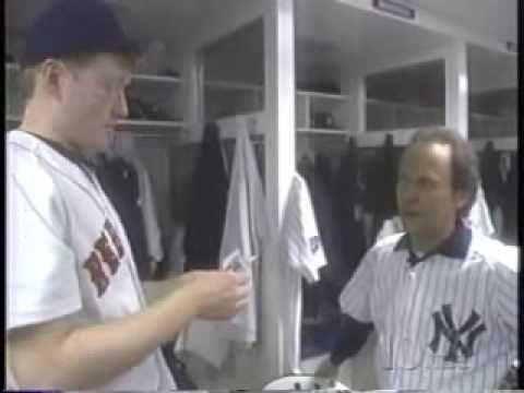 Conan and Billy Crystal Visit Yankee Stadium
