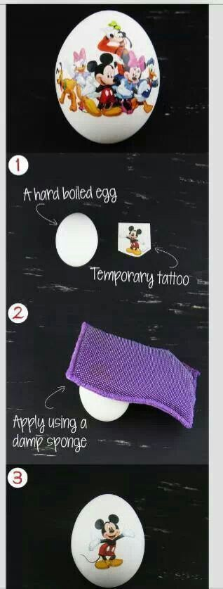 Decorate Easter eggs with temporary tattoos! Now why didn't I think of that?!