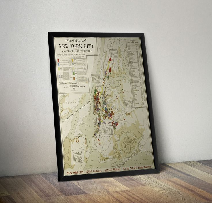 Industrial Map of New York City