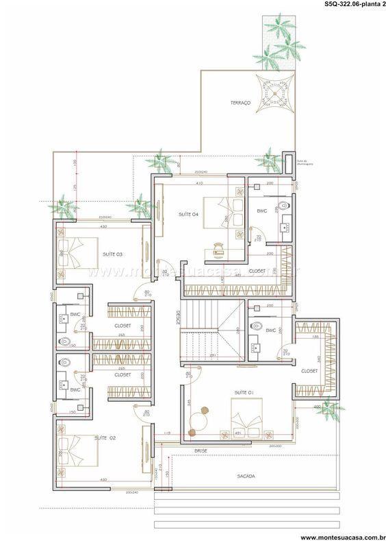 Sobrado 0 quartos arquitectura pinterest for Arquitectura de casas modernas planos
