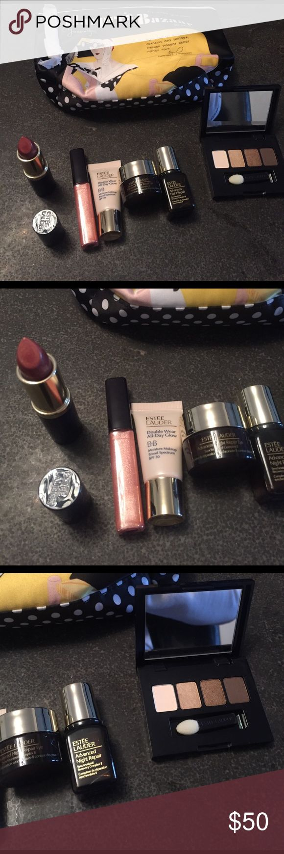 Estée Lauder 7 piece bundle NWT. Brand new. Never opened or used. Free gift with purchase :). Offers welcome Estee Lauder Makeup
