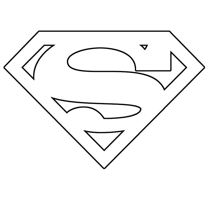 superman template | Save the two templates. The S is red, the shield ...