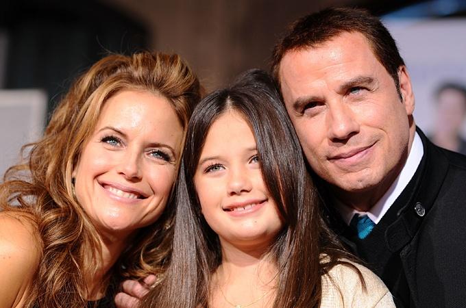 John Travolta and Kelly Preston - homeschooling parents