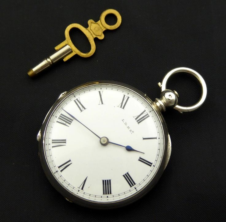 Late 1800s Antique .800 Swiss Hallmarked LD&Co Silver Pocket Watch Needs Work - The Collectors Bag