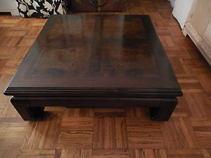 Thomasville Vintage Teak And Burl Wood Asian Style