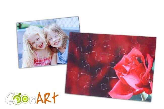 Puzzle magnetici da applicare a tutte le superfici metalliche.  Personalizzali con i tuoi ricordi più belli !