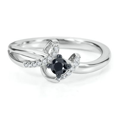 1/4 ct. tw. Black Diamond Promise Ring in Sterling Silver available at #HelzbergDiamonds