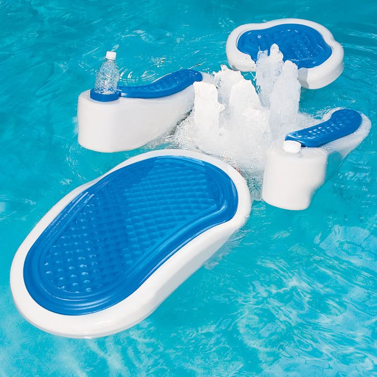 This floating pool lounger attaches to your pools filtration system to provide a soothing, spa-quality back massage without the need for a battery or AC power source. Description from nbwsblog.com. I searched for this on bing.com/images