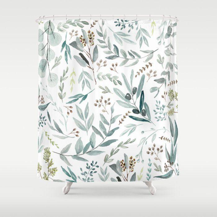 Buy Eucalyptus Pattern Shower Curtain By Aniiiz Worldwide