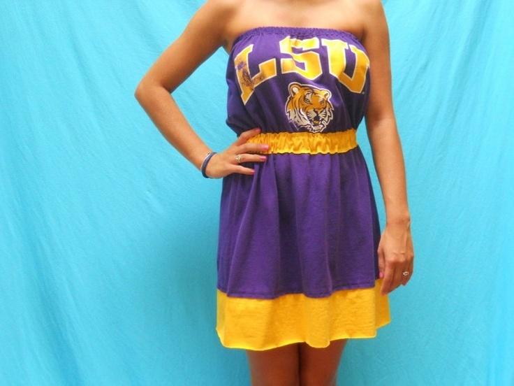 LSU Game Day Dress - Tigers Tailgate Fashion. $40.00, via Etsy.