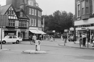 Exmouth in August 1976. Exmouth town centre. Ref exe 30-16AW Exmouth from 1976 03. Picture: Archant Archives