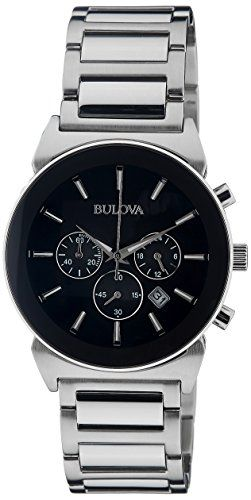 Bulova Mens 96B203 Analog Display Japanese Quartz Silver Watch >>> For more information, visit image link.