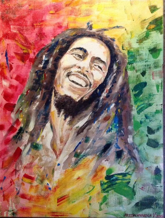 Hey, I found this really awesome Etsy listing at https://www.etsy.com/listing/235760506/portrait-of-bob-marley-acrylic-painting