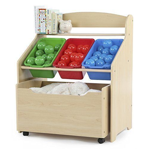 Kids Storage Organizer Rack Plastic Cubes Toys Box Bookcase Container Bins  #Unbranded