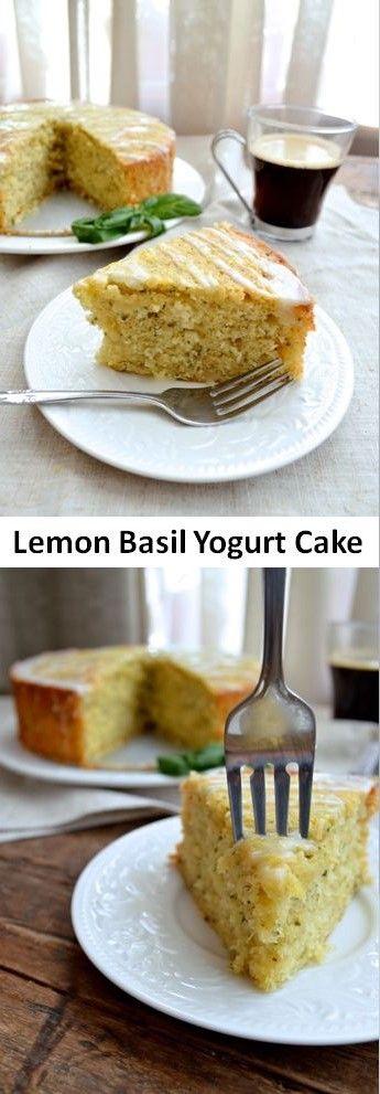 Lemon Basil Yogurt Cake, absolutely scrumptious !