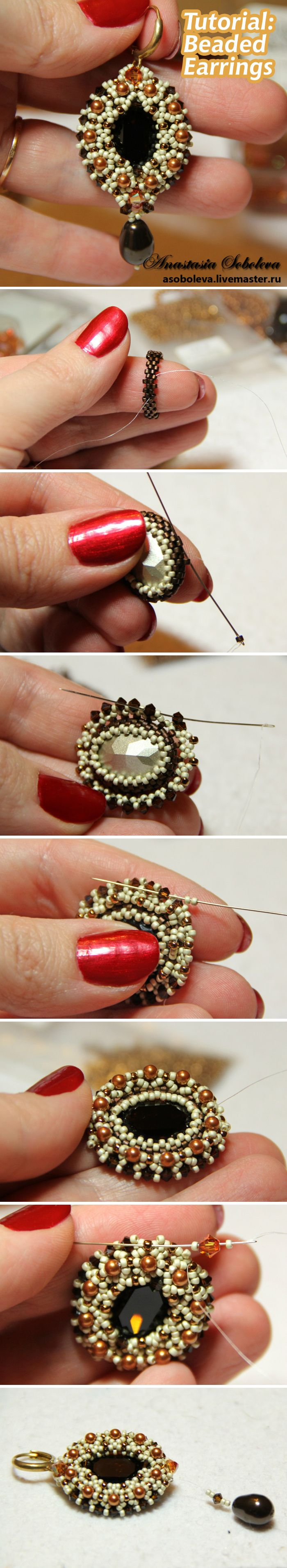 Beaded Earring Tutuorial #diy #bead #jewelry