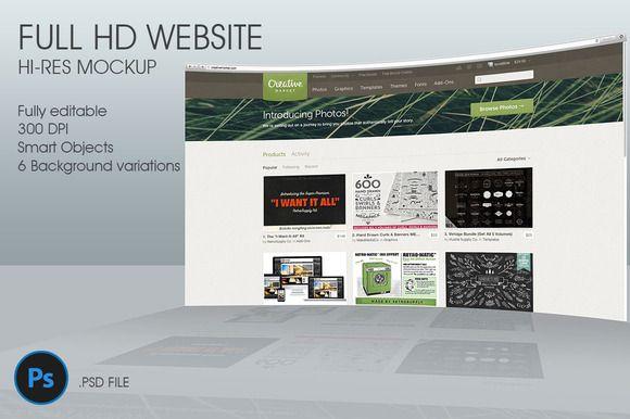 I just released FullHD Website 3D mockup on Creative Market.