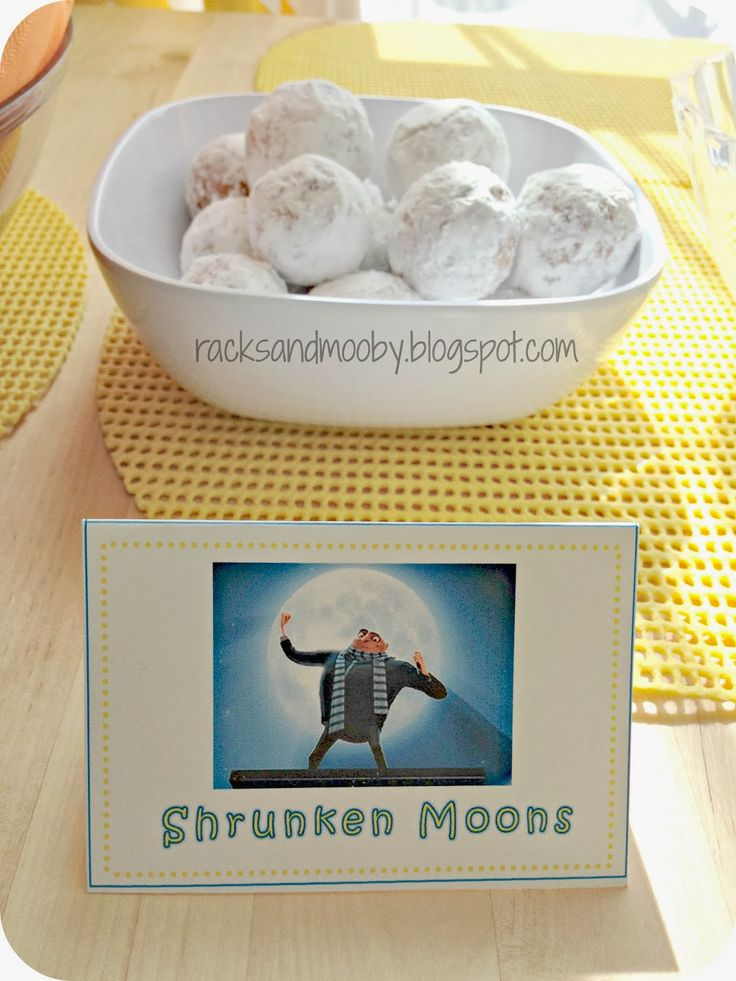 RACKS and Mooby: Despicable Me Minion Party #minions #despicableme #minionparty                                                                                                                                                     More