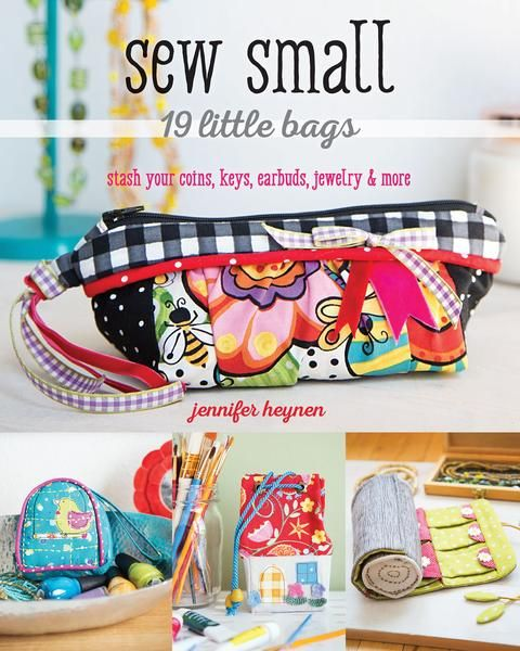 Sew 19 simply embellished projects including a card holder, coin purses, earbud holder, small wallets, pouches and organizers. These cute and useful bags are pe