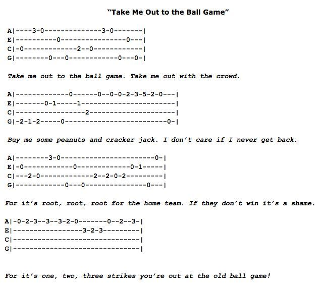 ukulele tabs easy - Google Search