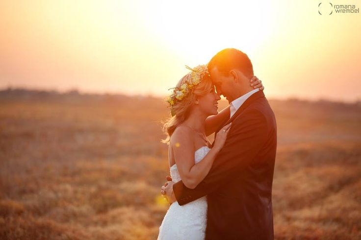 romantic wedding photos ♥ sunset