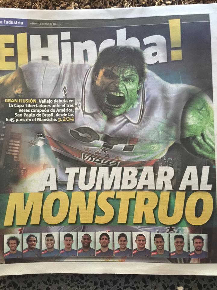jornal em Trujillo no Peru
