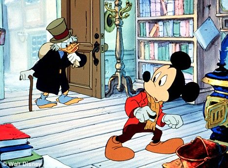 "Scrooge McDuck (voiced by Alan Young): ""What's this world coming to, Cratchit? You work all your life to get money... then people want you to give it away."" -- from Mickey's Christmas Carol (1983) directed by Burny Mattinson"