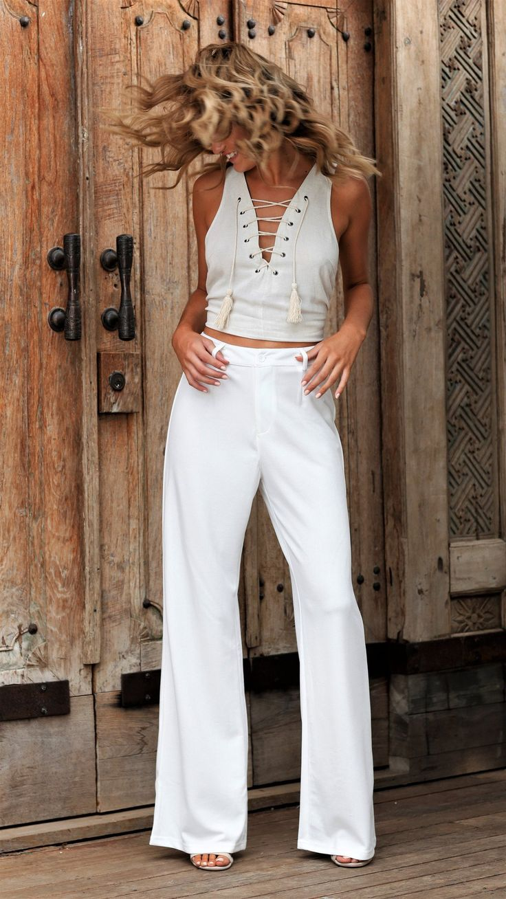 Toby Heart Ginger - Run To You Pants - White
