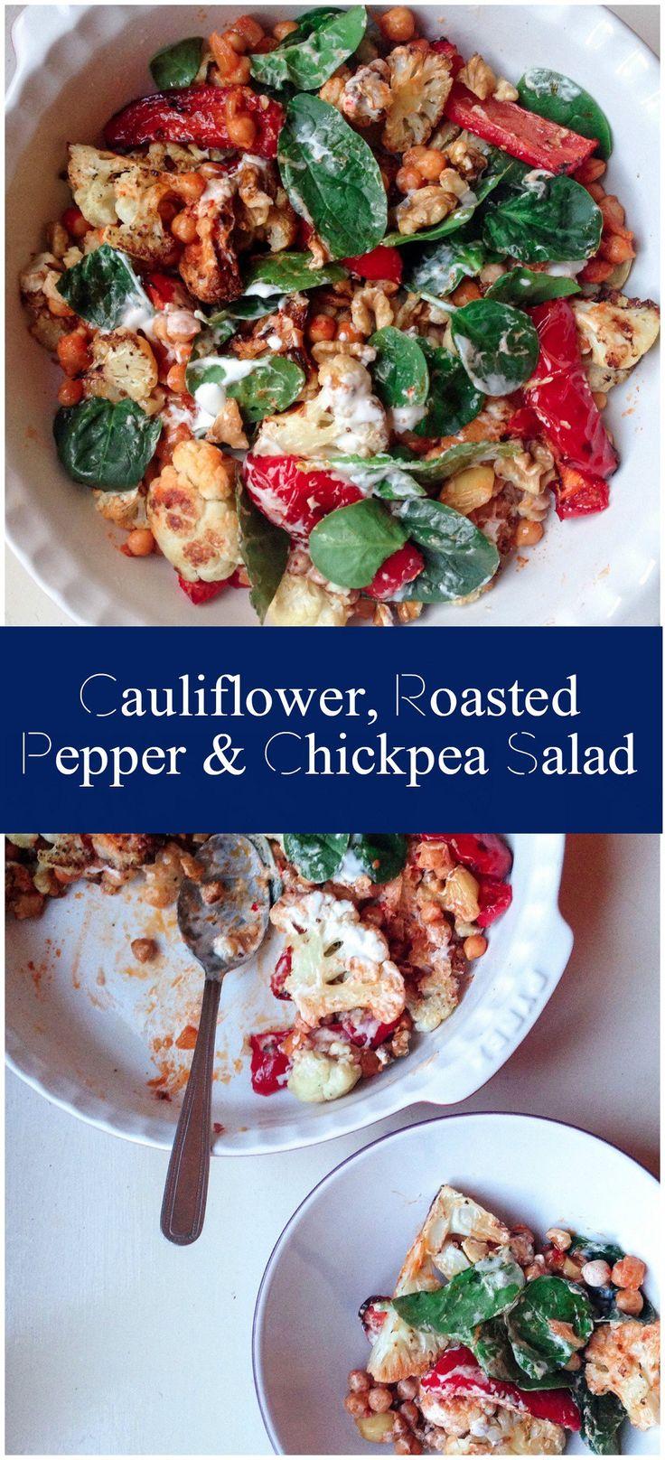 Cauliflower Chickpea Salad