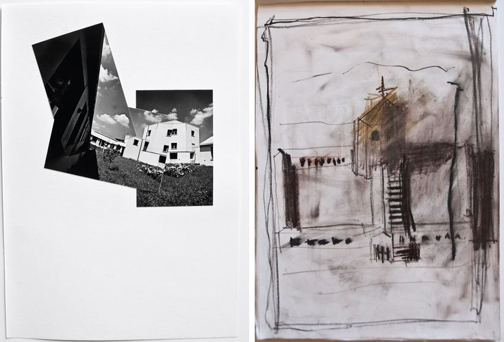 McEwan, C (2011) Aldo Rossi School at Broni Photomontage and Sketch Study [Photographs on cartridge paper; Pencil on layout paper]