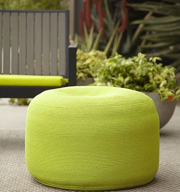 pouf seating for the garden