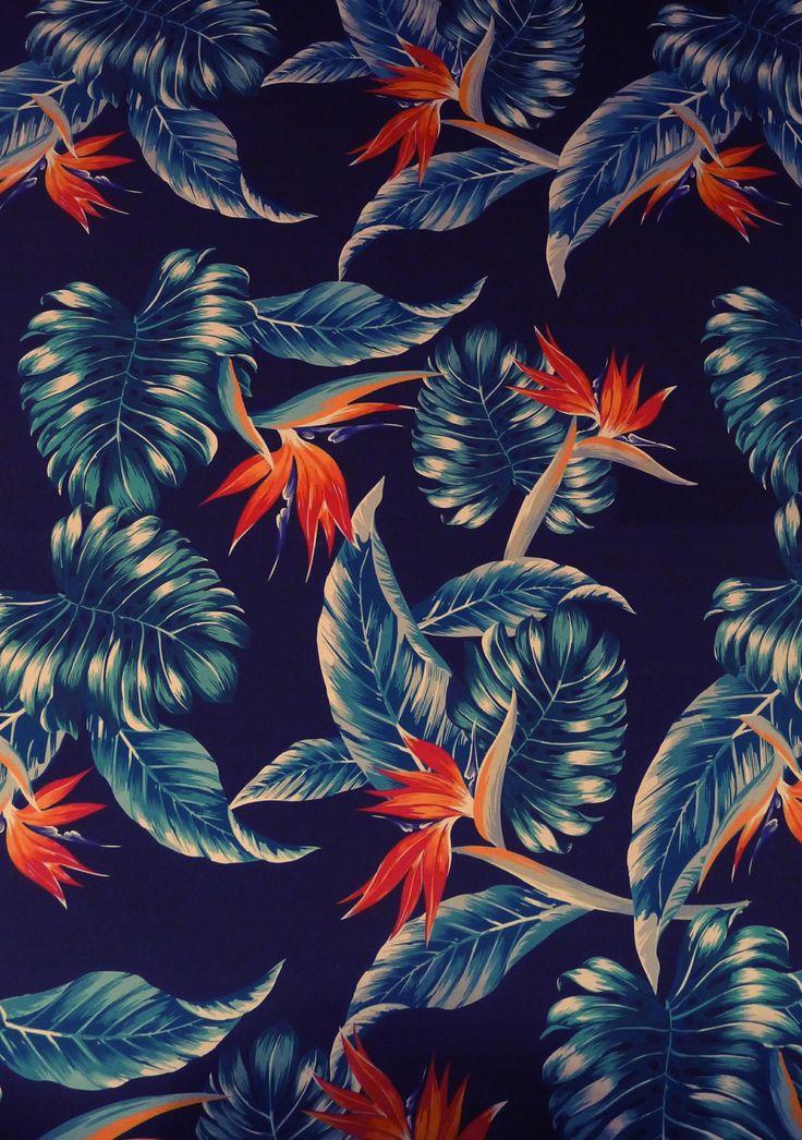 Papier peint exotique pour une ambiance tropicale.