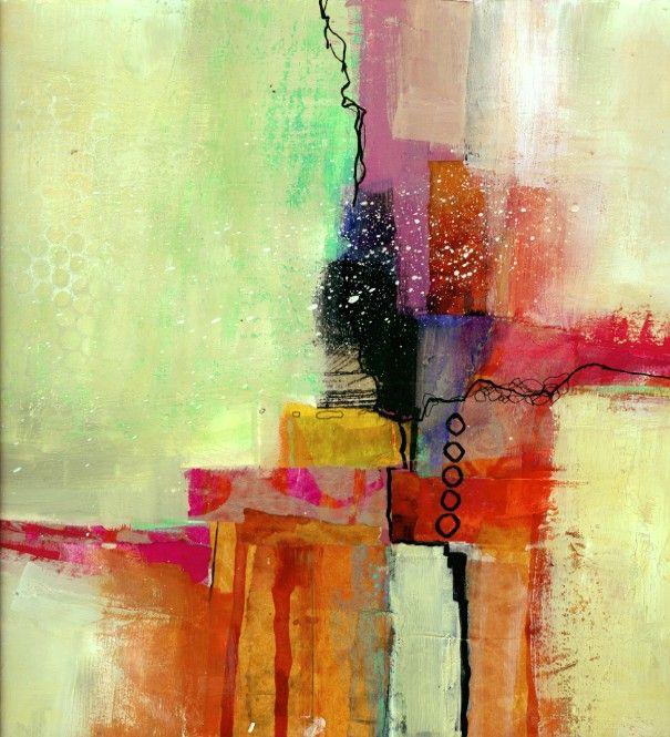 collage journeys: Abstract Painting on Whidbey Island