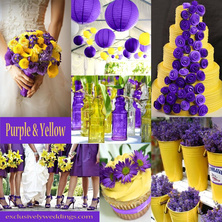 Purple and Yellow Wedding | option for wedding colors - maybe add a little brown to relax it a bit
