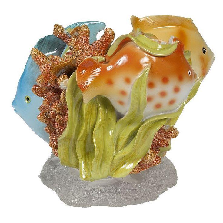 Creative Bath Rainbow Fish Toothbrush Holder, Multicolor